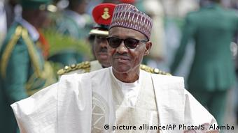 Nigeria Präsident Muhammadu Buhari (picture alliance/AP Photo/S. Alamba)