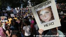 Demonstrationen in Boston Gedenken Heather Heyer