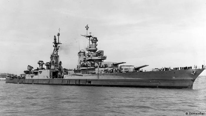 The cruiser USS Indianapolis