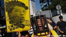Demonstrationen in Hongkong für verurteilte Studentenführer