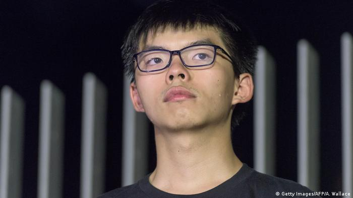 Joshua Wong Studentenführer der Protestbewegung in Hongkong (Getty Images/AFP/A. Wallace)