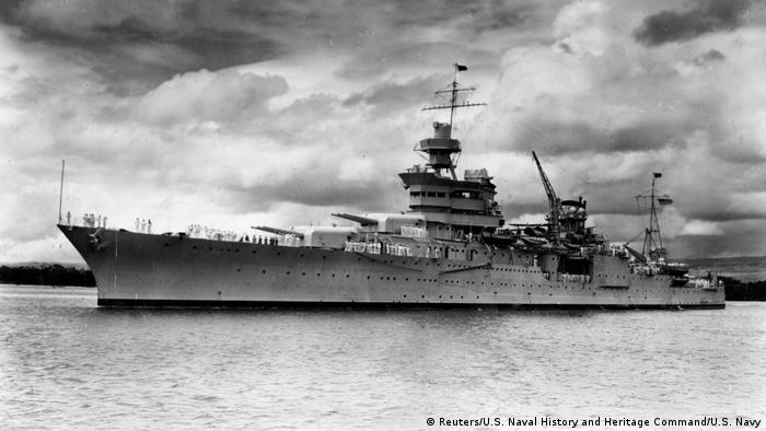 "WK II US-Kriegsschiff ""USS Indianapolis"" bei Pearl Harbor Hawaii (Reuters/U.S. Naval History and Heritage Command/U.S. Navy)"
