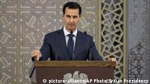 Syrien Präsident Assad - Rede vor Diplomaten in Damaskus