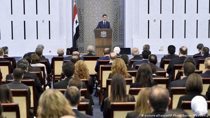 Выступление Башара Асада перед дипломатами