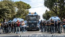Italien Demonstration in Rome