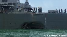 Singapur USS John S. McCain nach Kollision