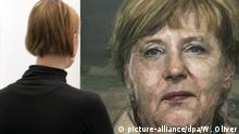 Großbritannien London Art Fair 2016 - Merkel als Malerei