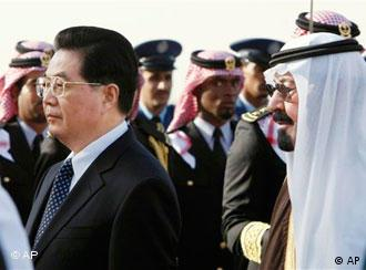 King Abdullah of Saudi Arabia and Chinese President Hu Jintao are glad not to talk about domestic matters