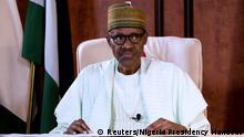 Nigeria Abuja - Muhammadu Buhari nach Rückkehr aus England