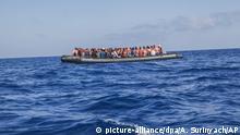 Flüchtlingen im Mittelmeer