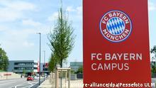 Fussball FC Bayern Muenchen Campus 02.08.2017 Aussenansicht, Eingangsschild FC Campus FOTO: Pressefoto ULMER/Markus Ulmer xxNOxMODELxRELEASExx |