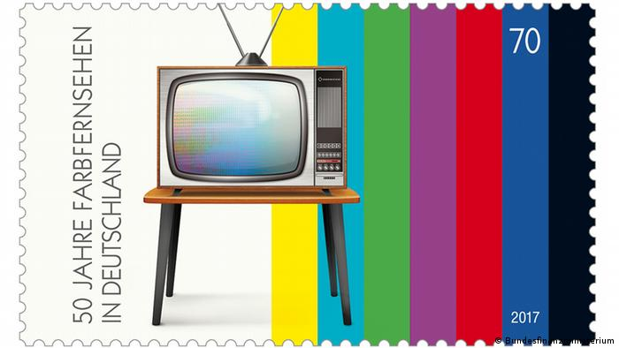 Stamp - 50 years of color TV in Germany (Bundesfinanzministerium)