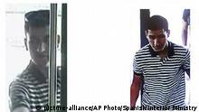 A composite image of suspect Younes Abouyaaqoub,released by the Spanish Interior Ministry on Monday Aug. 21, 2017. Moroccan suspect Younes Abouyaaqoub, 22, is the final target of a manhunt that has been ongoing since the attacks, Catalan interior minister Joaquim Forn told Catalunya Radio that everything indicates that Abouyaaqoub was the driver of the van that plowed down Barcelona's emblematic Las Ramblas promenade on Thursday, killing 13 pedestrians and injuring more than 120 others. (Spanish Interior Ministry via AP)  