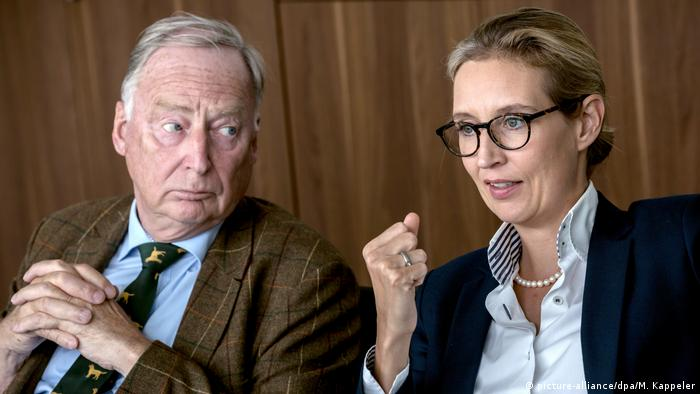 Alexander Gauland and Alice Weidel (picture-alliance/dpa/M. Kappeler)