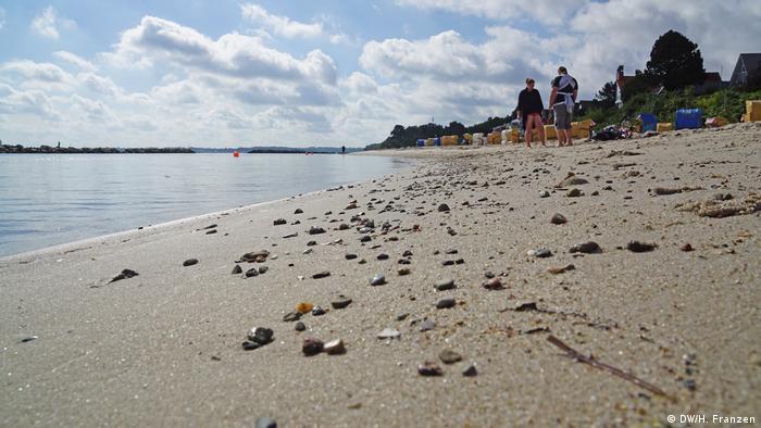 Beach in Kiel-Schilksee, Baltic Sea
