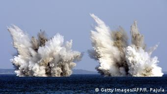 Detonação controlada na costa da Estônia: opção para lidar com munição submersa