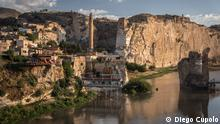 A view of Hasankeyf, Turkey, a historic settlement on the banks of the Tigris River threatened by the construction of a hydroelectric dam