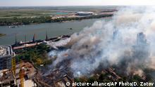 21.08.2017+++ An aerial view of the fire in Rostov-on-Don, Russia, Monday, Aug. 21, 2017, which swept through the area leaving scores of people injured and burning dozens of houses. Hundreds of firefighters backed by helicopters were deployed to extinguish the blaze that has engulfed dozens of buildings, according to Russian emergency officials. (Dmitry Zotov, AirGorod.Ru via AP)