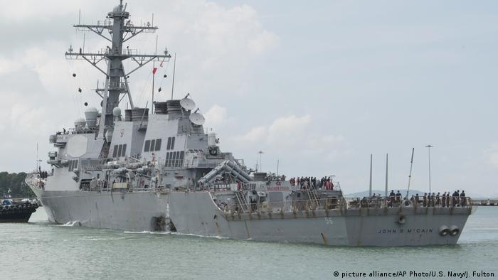 The USS John S. McCain