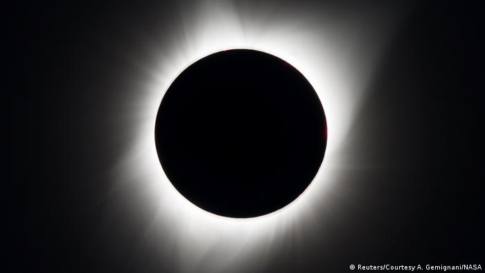 A total solar eclipse, as seen in the US state of Oregon in 2017