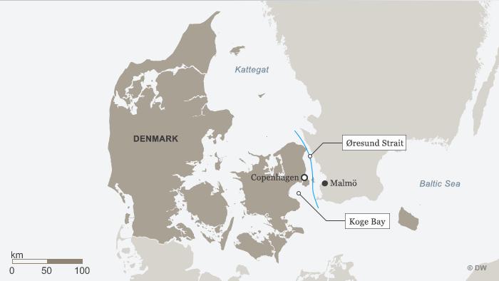 Karte Dänemark ENG