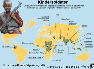 Les enfants soldats sont surtout présents en Afrique et en Asie