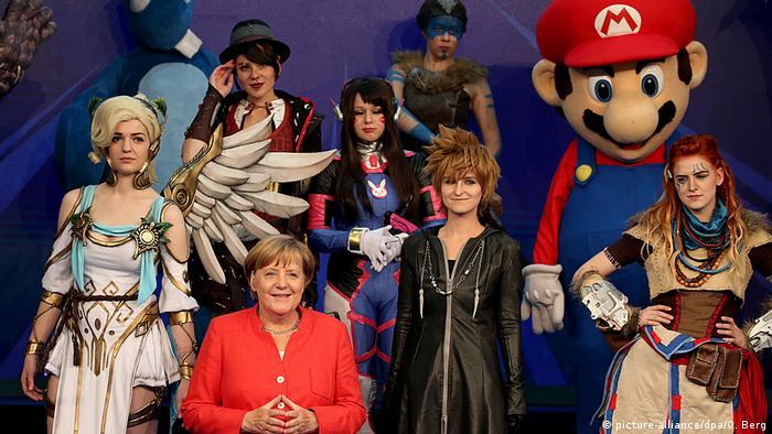 Ангела Меркель на Gamescom