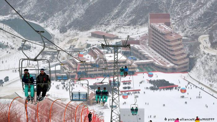 Nordkorea Masikryong Ski Resort (picture-alliance/Kyodo/MAXPPP )