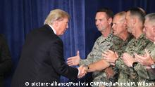 USA Fort Myer Trump Rede Afghanistan Strategie (picture-alliance/Pool via CNP/MediaPunch/M. Wilson)