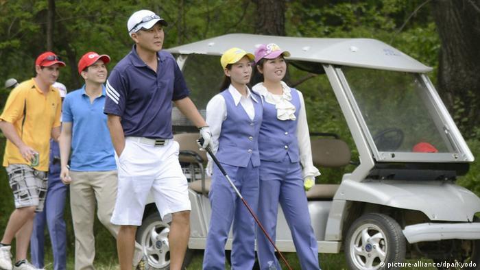 Nordkorea Golfkurse in Pjöngjang (picture-alliance/dpa/Kyodo)