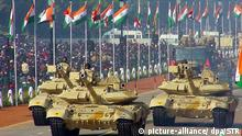 Indien T-90-Panzer-Parade
