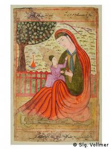 Мать с младенцем из книги предзнаменований. Индия, 1580 год