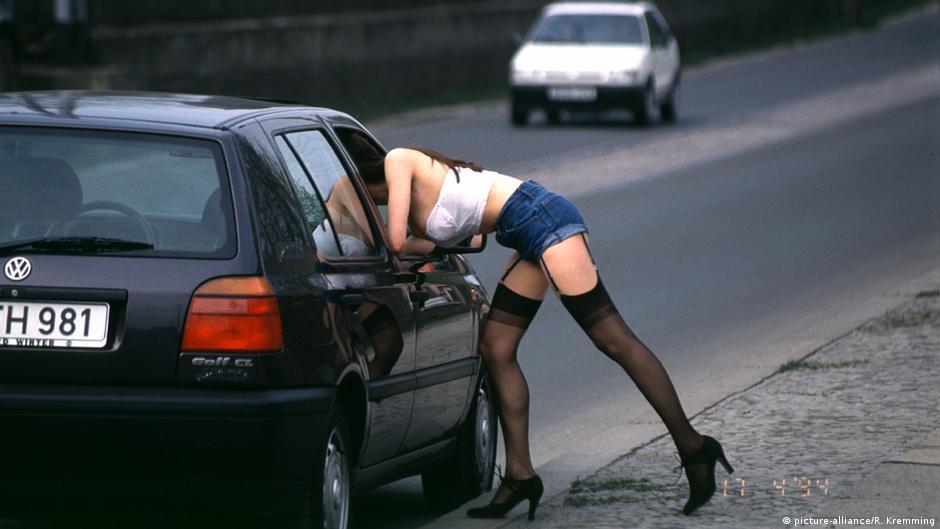 Prostituierte vom Straßenstrich in der Kürfürstenstraße