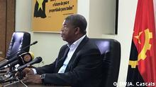 22.08.2017 MPLA-Kandidat João Lourenço beim Treffen in Luanda mit ausländischen Journalisten.