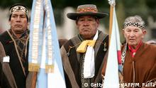 Miembros de una comunidad mapuche en la Patagonia argentina.