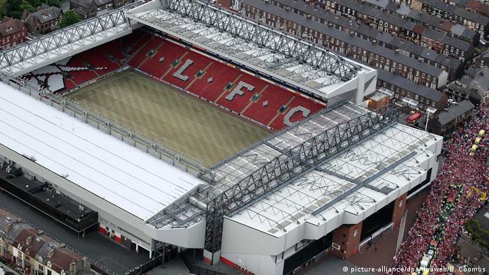 UK   Luftaufnahme Stadion Anfield Road nach dem CL-Finale FC-Liverpool vc AC Mailand 2005