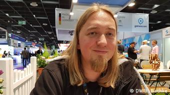 Christopher Kassulke at Gamescom (DW/B. Bathke)