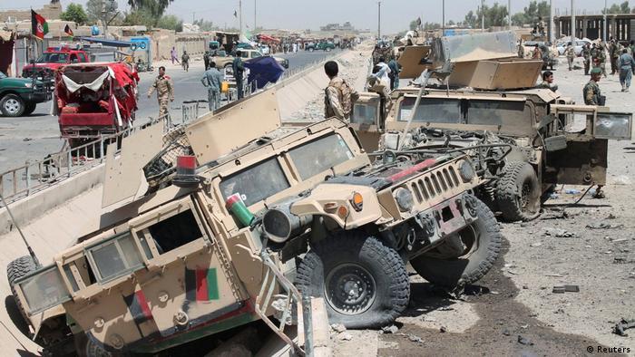 Afghanistan Autobomben-Anschlag der Taliban auf einen Militärkonvoi