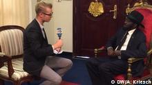 DW Interview mit Salva Kiir Mayardit, Präsident Südsudan DW, Adrian Kriesch