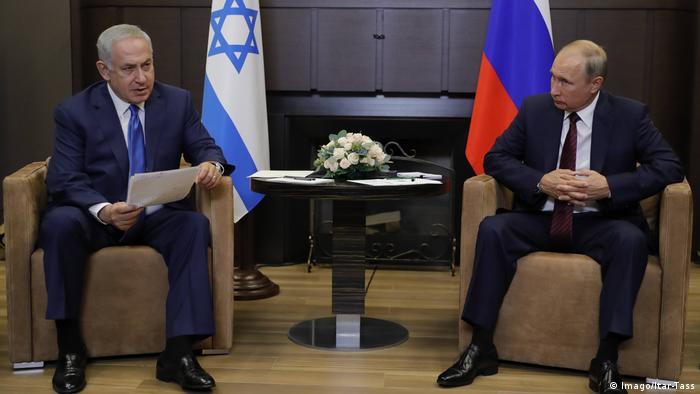 Israeli Prime Minister Benjamin Netanyahu meets with Russian President Vladimir Putin in 2017