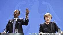 Bildergalerie langjährige Herrscher Idriss Deby mit Merkel in Berlin