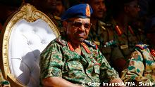 09.04.2017******Sudanese President Omar al-Bashir watches the joint Sudan and Saudi Arabia air force drill at the Marwa air base, near Meroe some 350 kilometres north of Khartoum, on April 9, 2017. The drills were aimed at improving the operational capacities of the two air forces, improving techniques related to air operations and promoting cooperation. / AFP PHOTO / ASHRAF SHAZLY (Photo credit should read ASHRAF SHAZLY/AFP/Getty Images)