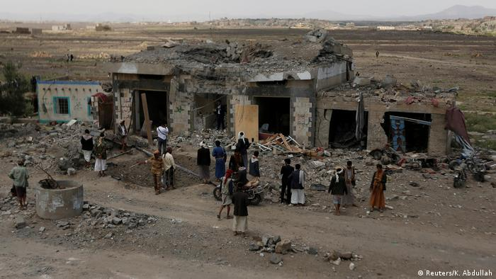 The site of a Saudi-led bombing in Yemen