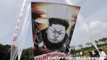 Südkorea Luftballon Aktivismus