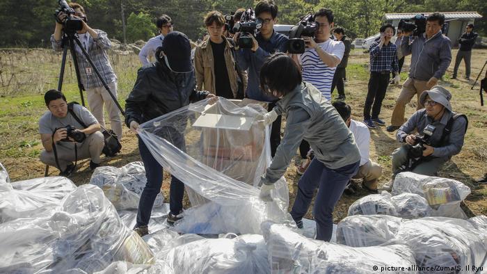 Südkorea Luftballon Aktivismus (picture-alliance/Zuma/S. Il Ryu)