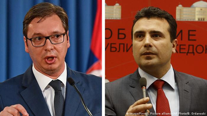 Bildkombo Alexksander Vucic (l) Zoran Zaev (r)