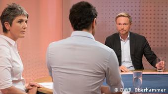 Кристиан Линднер отвечает на вопросы DW