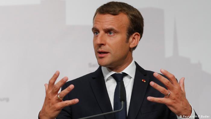 Emmanuel Macron, la conferința de presă din Austria