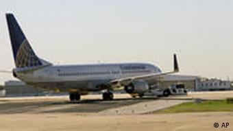 Flugzeug von Continental Airlines