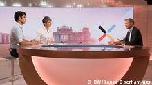 Ines Pohl und Jaafar Abdul-Karim interviewen Christian Lindner für die Deutsche Welle